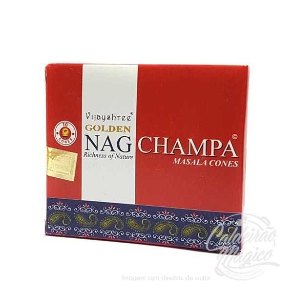INCENSO NAG CHAMPA GOLDEN CONES