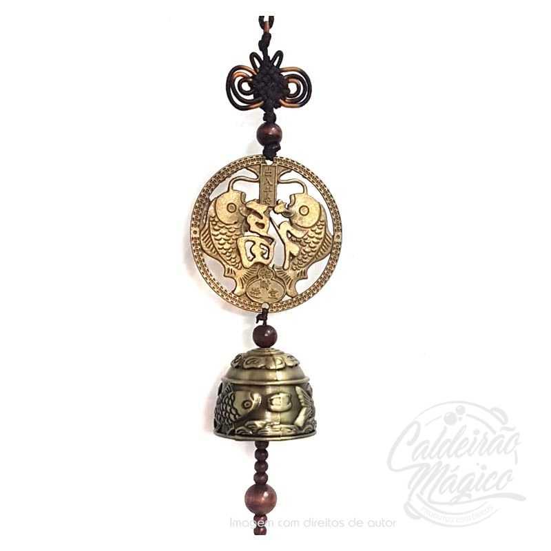 Campainha feng shui com moeda 1